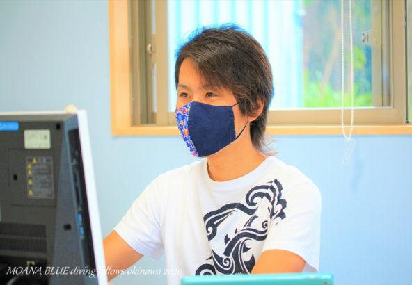 紅型模様布マスク