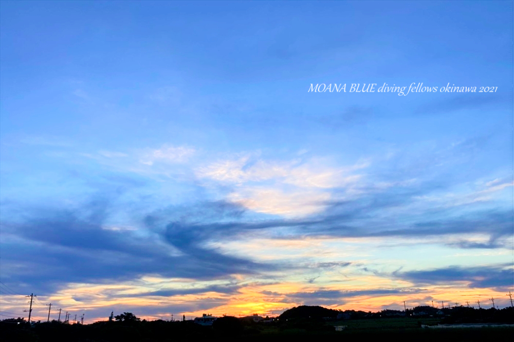 沖縄風景写真|夕焼け空