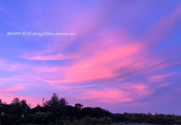 沖縄風景写真|恩納村朝焼け