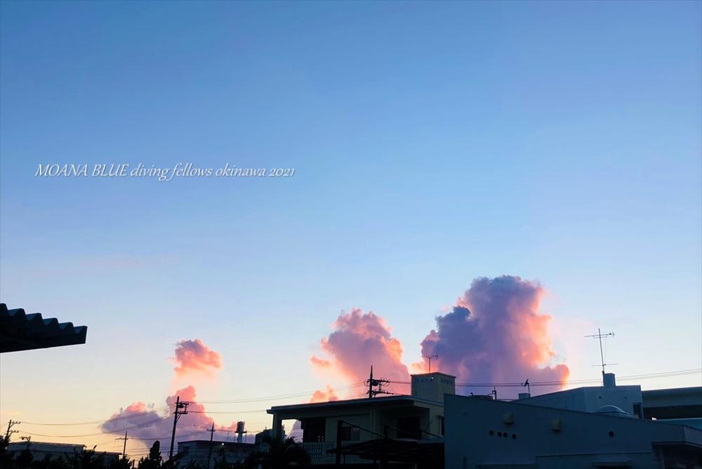 恩納村夕焼け風景