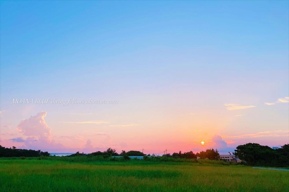 恩納村風景|夕空