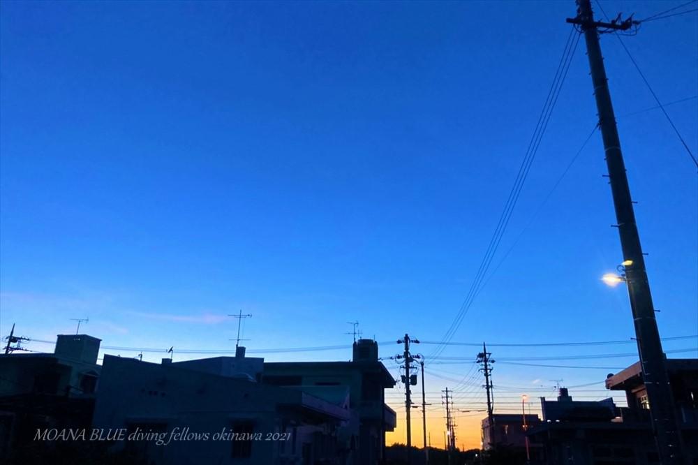 恩納村夕日 沖縄風景写真