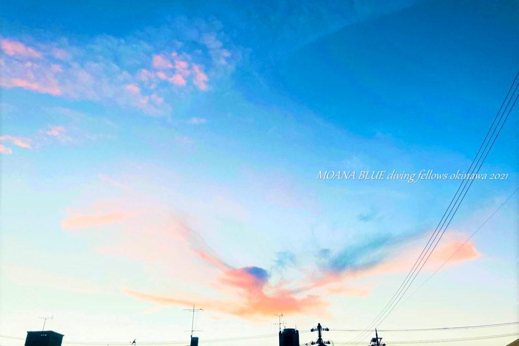 恩納村風景 夕空